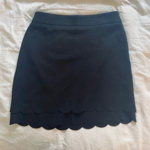 LOFT straight skirt with scallop